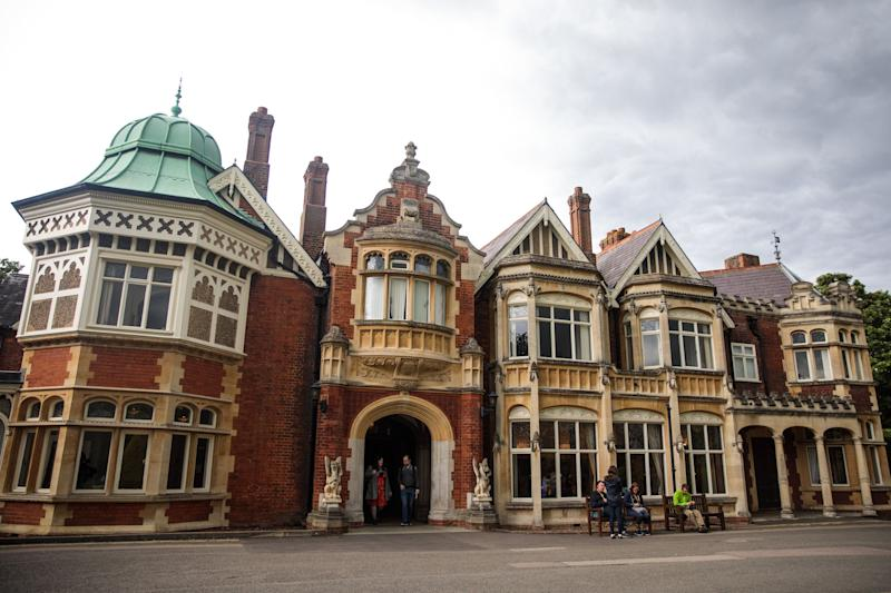 MILTON KEYNES, ENGLAND - SEPTEMBER 03: Bletchley Park Mansion stands during an annual reunion event of World War II veterans who worked at Bletchley Park and its outstations on September 3, 2017 in Milton Keynes, England. Bletchley Park was the Government Code and Cypher School's (GC&CS) main codebreaking centre during World War II and the site where codebreakers famously cracked the German's Enigma and Lorenz cyphers. (Photo by Jack Taylor/Getty Images)