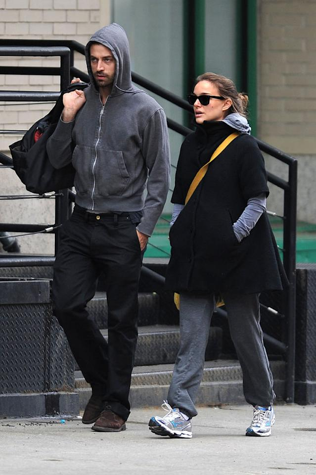 "<i>In Touch</i> reports ""The post-Oscar honeymoon is over"" for Natalie Portman and Benjamin Millepied because they're fighting over where to live. The mag notes that Millepied's ballet directing and acting career is ""starting to take off and he needs to be in New York and L.A. for a few years to work,"" but Portman is insisting they move to Paris because ""she doesn't want to raise their child around the film industry."" For what they've shockingly decided to do, get the full dirt from <a href=""http://www.gossipcop.com/natalie-portman-benjamin-millepied-fighting-paris-moving/"" target=""new"">Gossip Cop</a>. Doug Meszler/<a href=""http://www.splashnewsonline.com"" target=""new"">Splash News</a> - February 19, 2011"