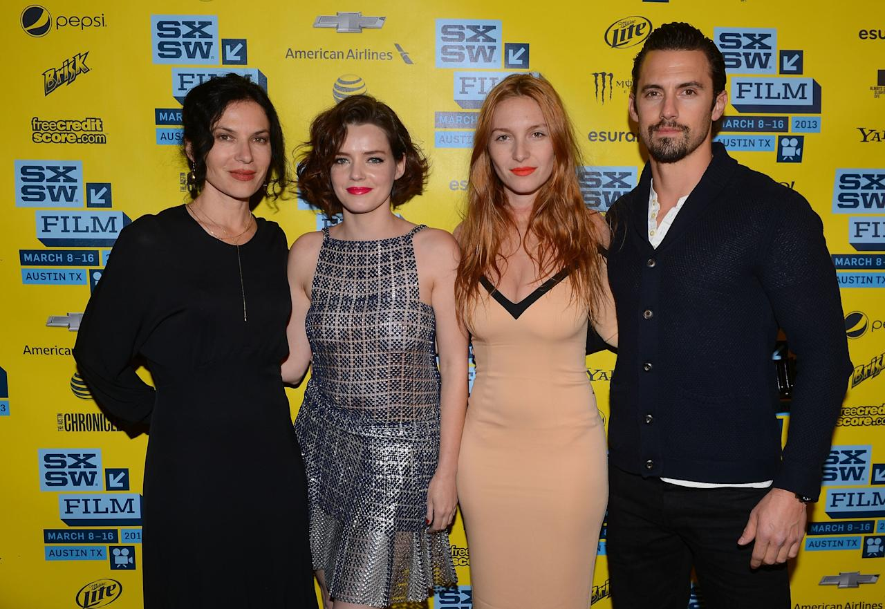 AUSTIN, TX - MARCH 12:   Director Xan Cassavetes, actors Roxane Mesquida, Josephine De La Naume and Milo Ventimiglia attend the 'Kiss of the Damned' red carpet arrivals at the  2013 SXSW Music, Film + Interactive Festival held at the Topfer Theatre at ZACH on March 12, 2013 in Austin, Texas.  (Photo by Mark Davis/Getty Images for SXSW)