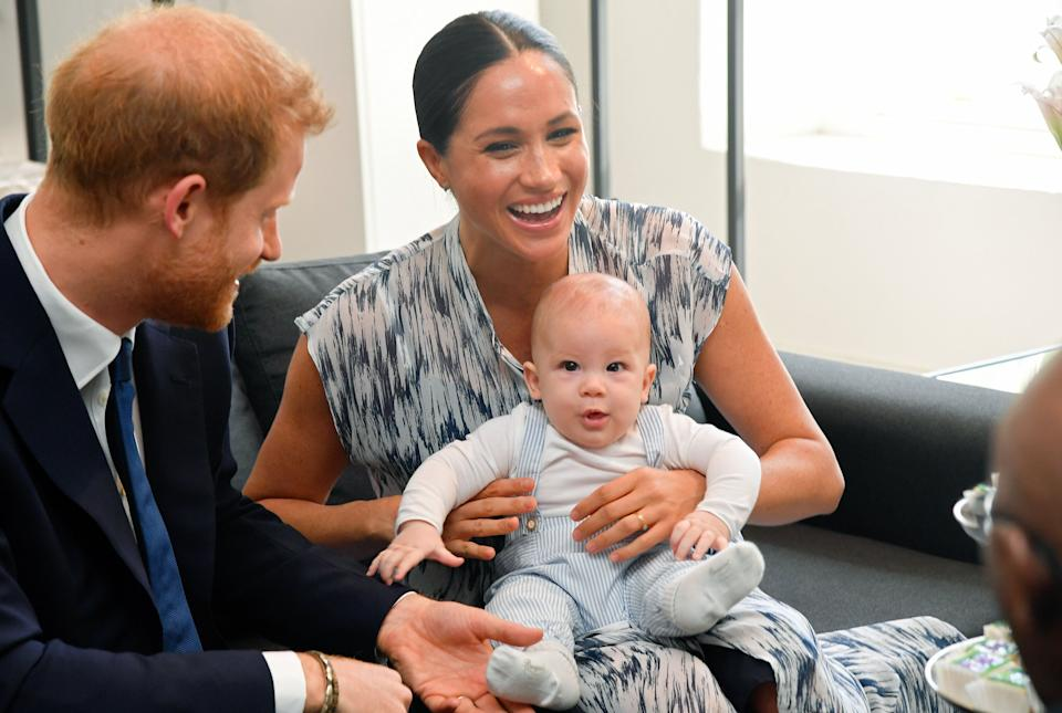 The Duke and Duchess of Sussex and their son Archie meet Archbishop Desmond Tutu and his daughter Thandeka Tutu-Gxashe during their royal tour of South Africa on Sept. 25, 2019, in Cape Town, South Africa. (Photo: Pool/Samir Hussein via Getty Images)