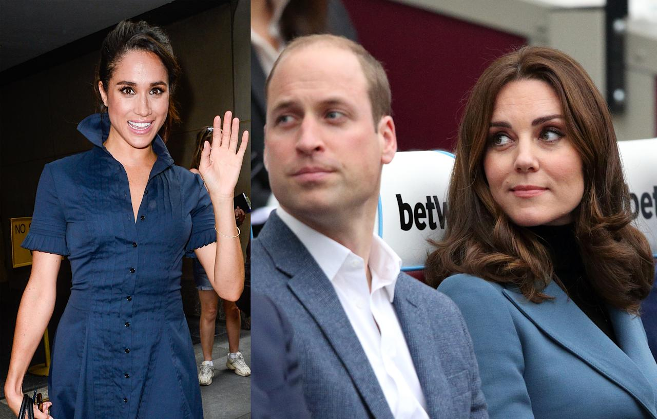 "<p>Shortly after, Markle's reported to have met Prince Charles as well as the Duke and Duchess of Cambridge. Kate was said to be ""thrilled"" with Harry's choice and vowed to help Markle enter one of the most unique families on earth. (Photo: Getty Images) </p>"