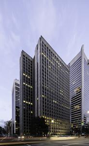 Arthur Erickson's award-winning Vancouver office tower was inspired by Japanese buildings and landscape.