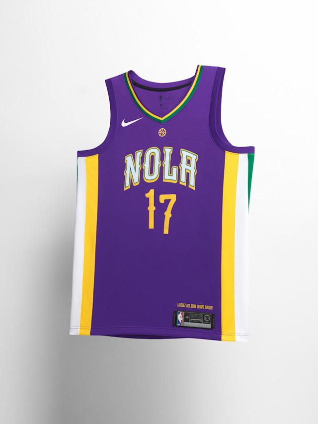 New Orleans Pelicans City uniform. (Nike)
