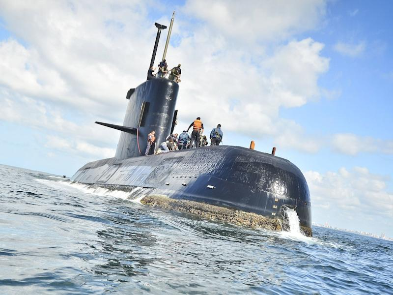 The Argentine navy said it has lost contact with the the submarine off the country's southern coast: EPA