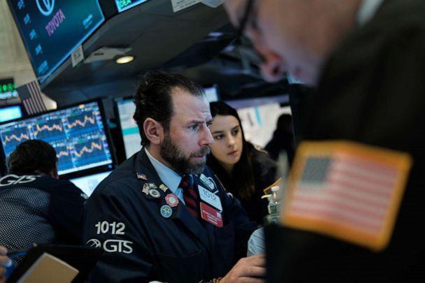 PHOTO: Traders work on the floor of the New York Stock Exchange (NYSE) on March 02, 2020 in New York City following a week that saw a massive sell off due to fears over the coronavirus. (Spencer Platt/Getty Images)