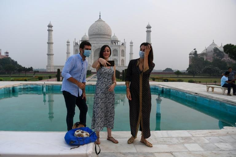India opened its famed Taj Mahal on Monday, as authorities pressed ahead with a reopening of the battered economy despite surging coronavirus cases