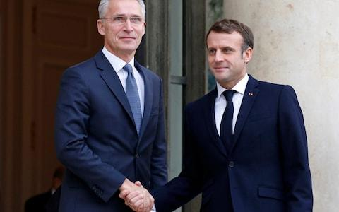 <span>French President Emmanuel Macron said Nato must define its strategic priorities after meeting alliance Secretary General Jens Stoltenberg </span> <span>Credit: Chesnot/ Getty Images Europe </span>