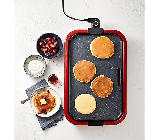 """<p><strong>Good Housekeeping</strong></p><p>qvc.com</p><p><strong>$59.94</strong></p><p><a href=""""https://go.redirectingat.com?id=74968X1596630&url=https%3A%2F%2Fwww.qvc.com%2FGood-Housekeeping-19%2522x-11%2522-Family-Style-Electric-Griddle.product.K50944.html&sref=https%3A%2F%2Fwww.redbookmag.com%2Flife%2Fg36197559%2Fgifts-for-dad-who-has-everything%2F"""" rel=""""nofollow noopener"""" target=""""_blank"""" data-ylk=""""slk:Shop Now"""" class=""""link rapid-noclick-resp"""">Shop Now</a></p><p>The next time he's on pancake duty, your dad can whip out this 19"""" x 11"""" griddle to flip multiple pancakes in one go. And if he's more of the tailgating type, then he can use it to grill tons of patties on game day.</p>"""