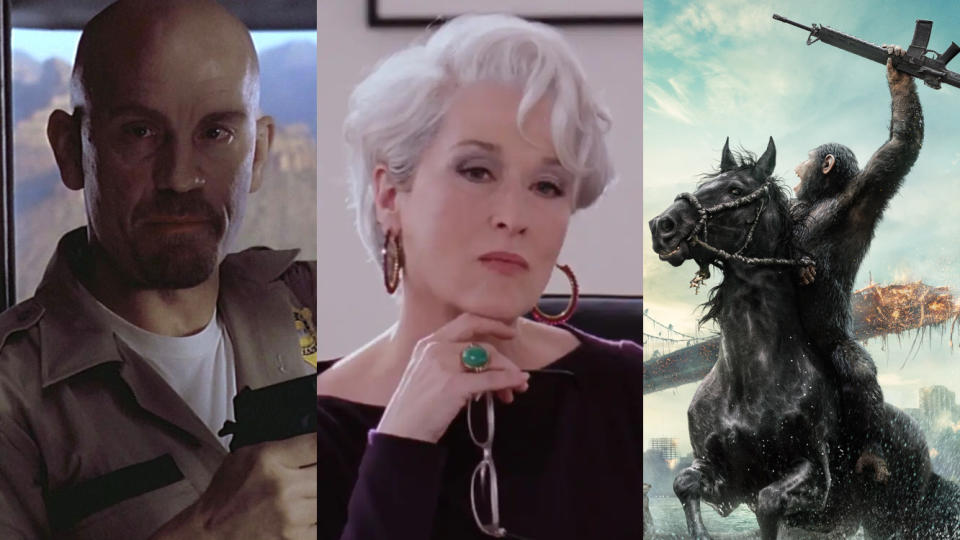 'Con Air', 'The Devil Wears Prada' and 'Dawn of the Planet of the Apes' are coming to Star on Disney+. (Credit: Buena Vista/20th Century Studios)