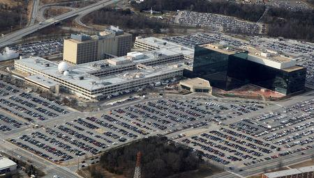 FILE PHOTO - An aerial view of the National Security Agency headquarters in Ft. Meade Maryland