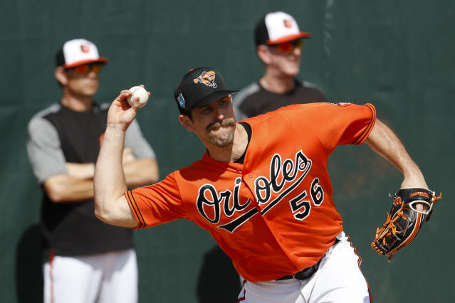 Darren O'Day, committee member. (AP Photo/John Minchillo)