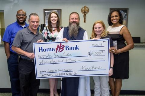 Home Bank and FHLB Dallas Award $6K to St. Teresa Center for Youth Program