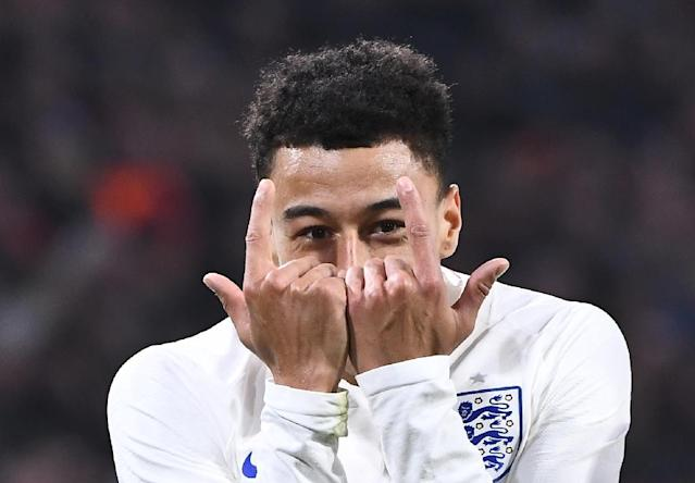 Jesse Lingard scored in Amesterdam in March after Gareth Southgate picked a youthful team for a friendly and beat the Netherlands (AFP Photo/Emmanuel DUNAND)