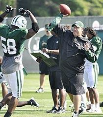 Rex Ryan is demanding of his players, but isn't afraid to keep it loose