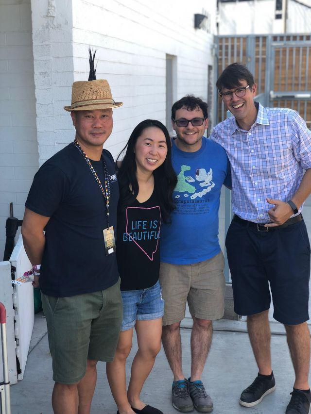 Tony Hsieh and friends at the Life is Beautiful festival in 2018.