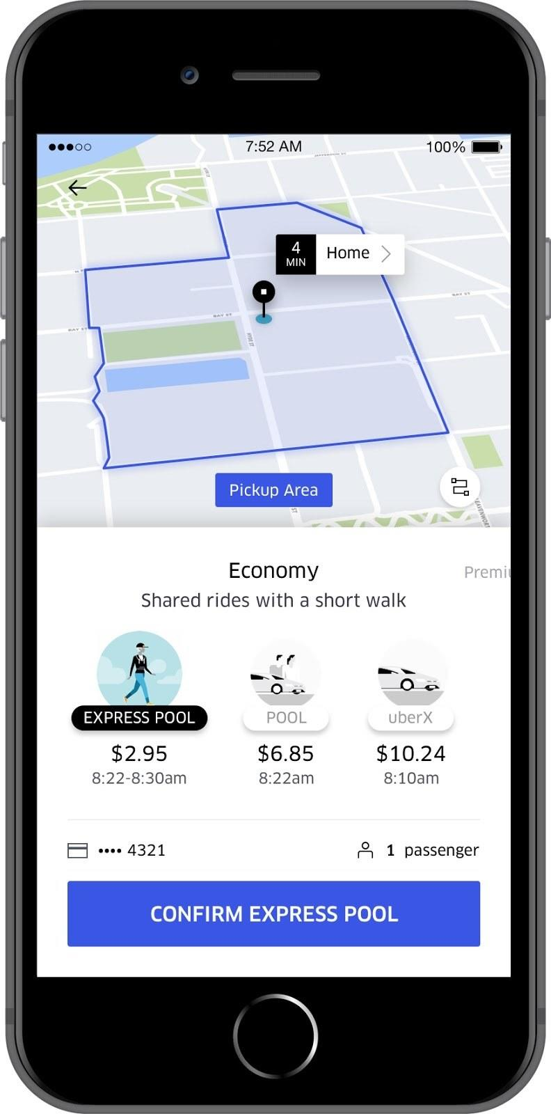 Uber Introduces Cheaper Express Pool Option