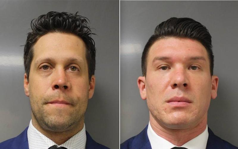 On Saturday, 39-year-old Aaron Torgalski, left, and 32-year-old Robert McCabe, right, were charged with assault in the second degree, a Class D felony. (Photo: Erie County DA)