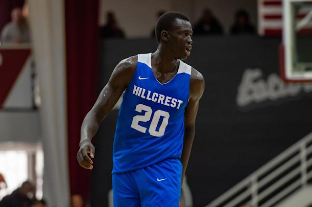 Hillcrest Prep center Makur Maker was one of the most pursued players in the country. (Photo by John Jones/Icon Sportswire via Getty Images)