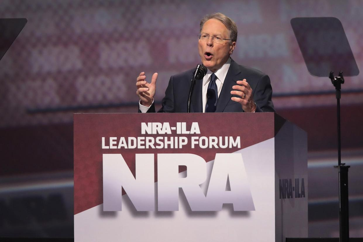 Wayne LaPierre, executive vice president and CEO of the NRA. Trump said the NRA are 'great people': Scott Olson/Getty Images