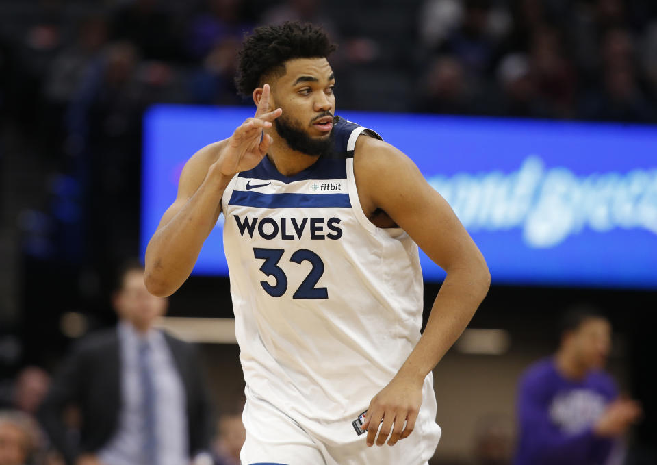 Minnesota Timberwolves center Karl-Anthony Towns.