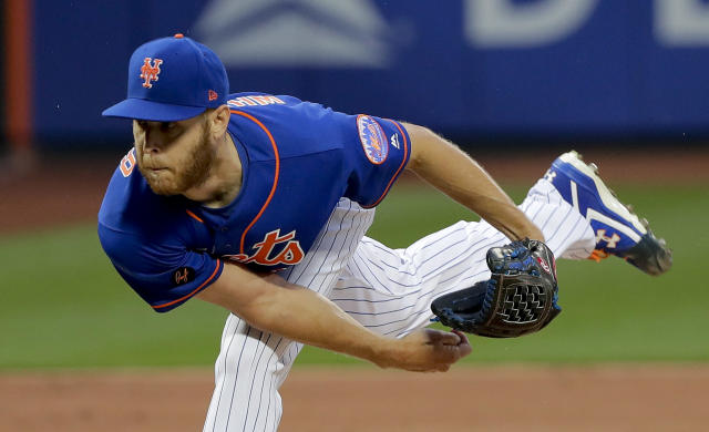 New York Mets pitcher Zack Wheeler delivers against the Los Angeles Dodgers during the third inning of a baseball game, Friday, June 22, 2018, in New York. (AP Photo/Julie Jacobson)