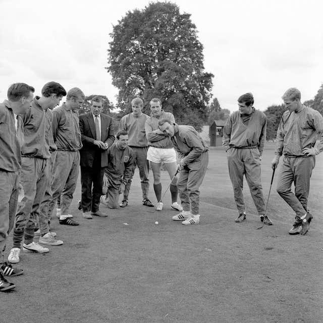Hunt, back centre, was included on the 2020 New Year's Honours list, alongside other members of the 1966 World Cup squad (PA Archive)