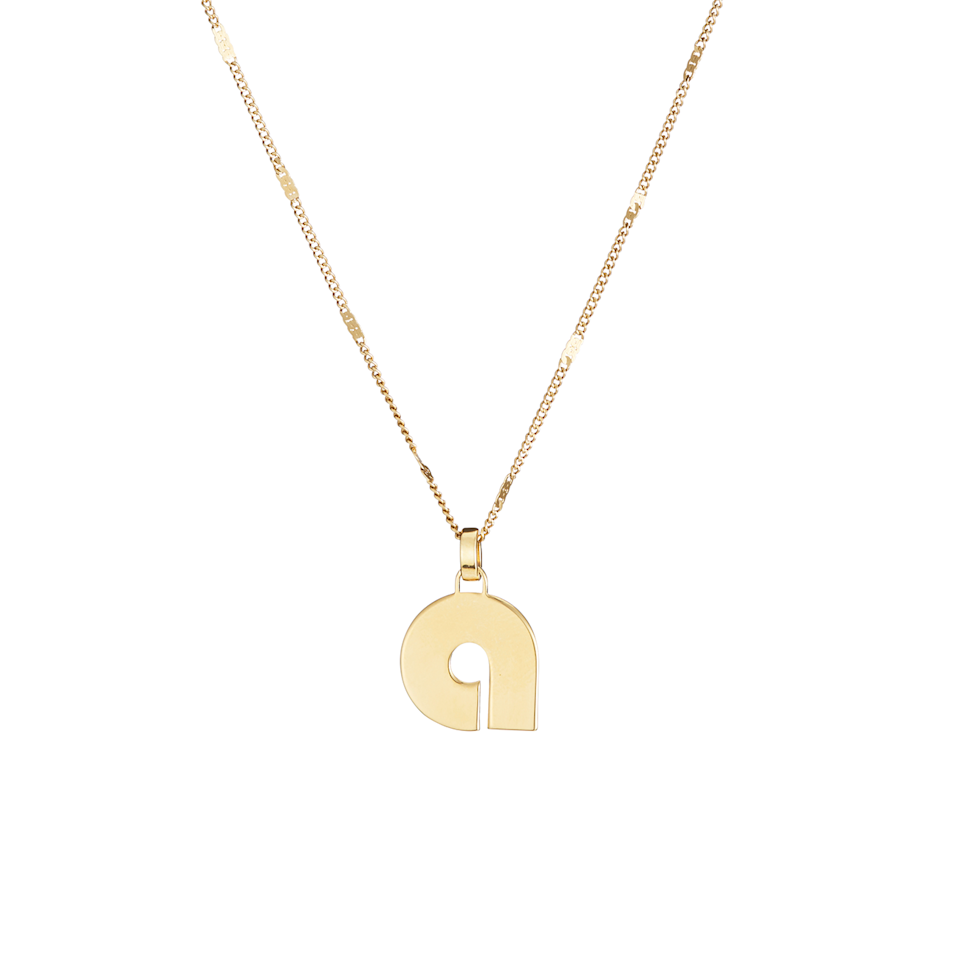 "<br><br><strong>Jenny Bird</strong> Modernist Monogram Pendant, $, available at <a href=""https://go.skimresources.com/?id=30283X879131&url=https%3A%2F%2Fjenny-bird.ca%2Fcollections%2Fmodernist-monogram%2Fproducts%2Fmodernist-monogram-pendant-necklace-gold"" rel=""nofollow noopener"" target=""_blank"" data-ylk=""slk:Jenny Bird"" class=""link rapid-noclick-resp"">Jenny Bird</a>"