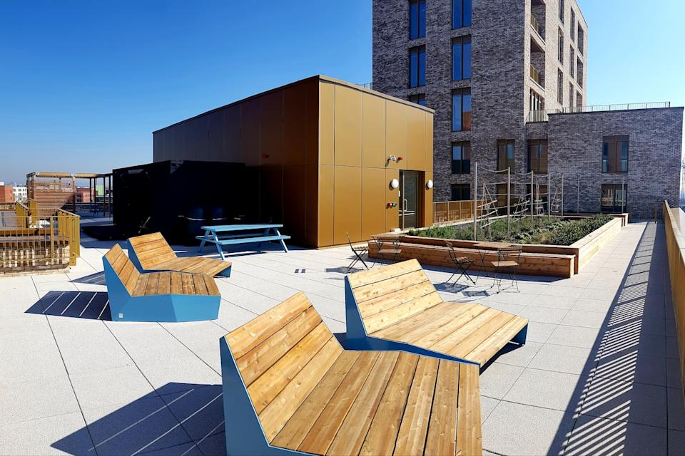 The property has both a rooftop terrace and a balcony. (The Astley/Savills/Movebubble)