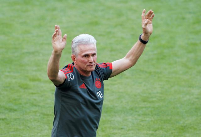 Soccer Football - Bundesliga - Bayern Munich v VfB Stuttgart - Allianz Arena, Munich, Germany - May 12, 2018 Bayern Munich coach Jupp Heynckes before the match REUTERS/Michaela Rehle DFL RULES TO LIMIT THE ONLINE USAGE DURING MATCH TIME TO 15 PICTURES PER GAME. IMAGE SEQUENCES TO SIMULATE VIDEO IS NOT ALLOWED AT ANY TIME. FOR FURTHER QUERIES PLEASE CONTACT DFL DIRECTLY AT + 49 69 650050