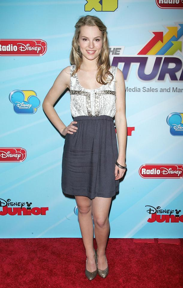 "Bridgit Mendler (""<a href=""http://tv.yahoo.com/good-luck-charlie/show/45316"">Good Luck Charlie</a>"") attends the 2012-13 Disney Channel Worldwide Kids Upfront event at the Hard  Rock Cafe: Times Square on March 13, 2012 in New York City."