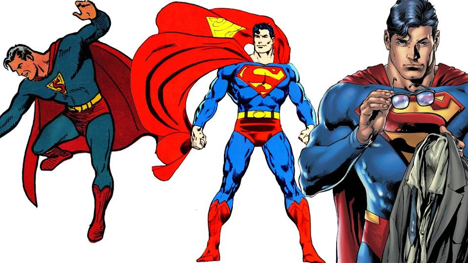 """Aside from changes to the """"S"""" insignia, Superman's costume was pretty much perfect from the word go."""