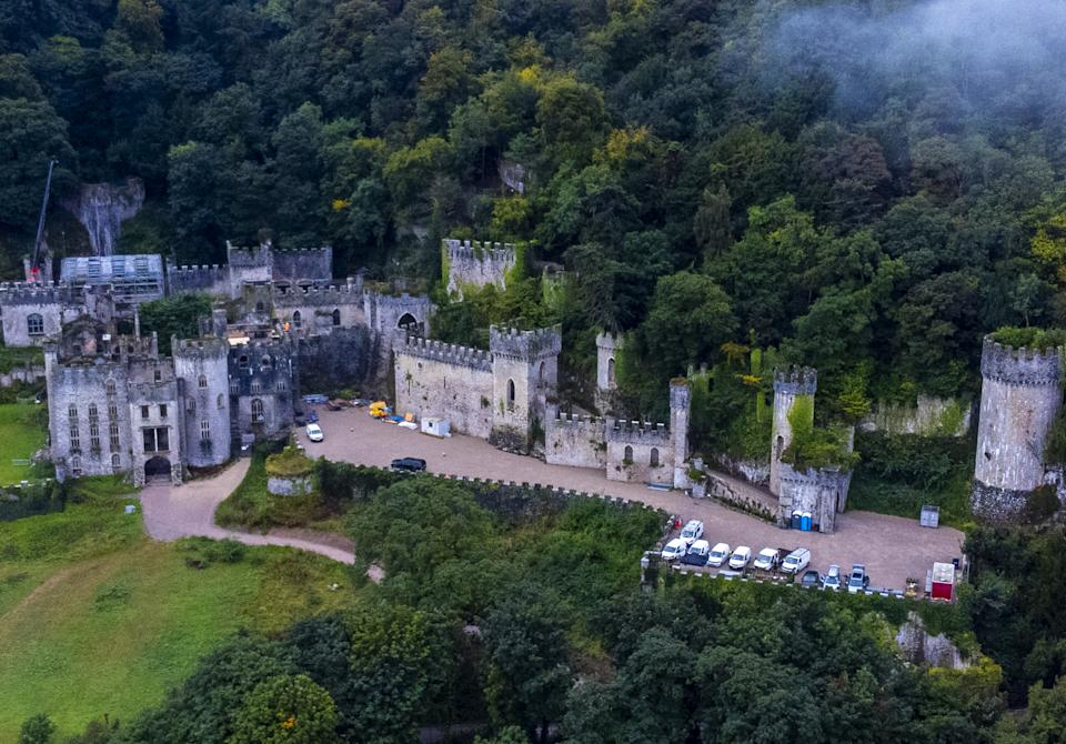 Gwrych Castle near Abergele in Conwy County Borough, North Wales, which will be used for year's I'm a Celebrity... Get Me Out Of Here!. Picture date: Friday September 10, 2021.