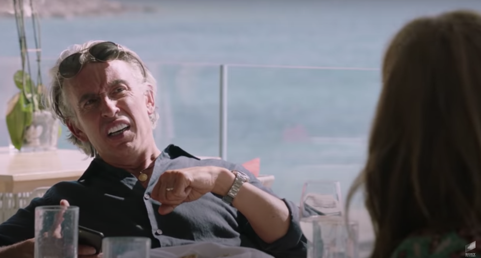 Steve Coogan in the film Greed. Photo: YouTube/Screenshot/Sony Pictures
