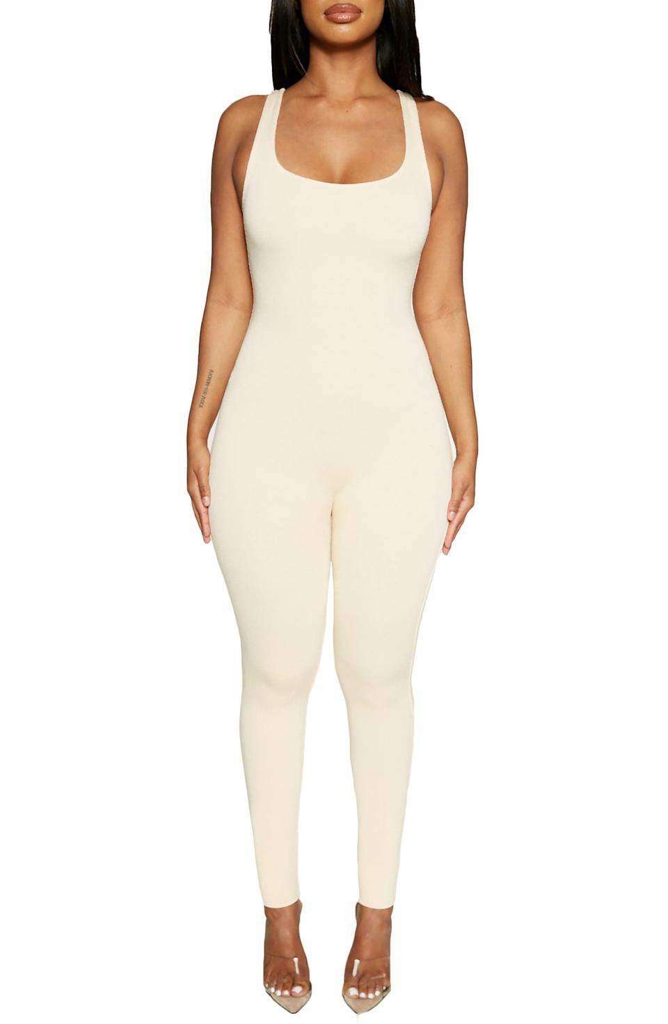 <p>This <span>Naked Wardrobe NW Jumpsuit</span> ($60) is a sartorial blank canvas you can take anywhere with just a few layers or accessory additions.</p>