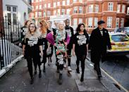 <p>During a pop-up protest catwalk, Vivienne Westwood and a crew of activists and modelsin Knightsbridge, London, protest a fracking at the chemical plant Ineos. (Photo: Getty Images) </p>
