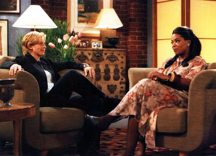 Ellen Degeneres and Oprah Winfrey on 'The Puppy Episode' (Photo: ABC/Getty Images)