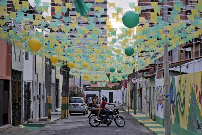 On Brazil's streets, a homemade fan-zone