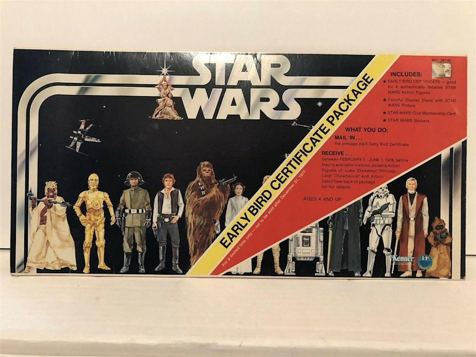 <p>There's no doubt that Star Wars is one of the most successful (and profitable) movie franchises in the past 40 years. This box set included a stand up display, sticker sheet, and a lot of popular figurines. It's only one of the many valuable pieces of memorabilia from this decade. A mint condition figurine of Luke Skywalker from 1978 recently sold on eBay for a whopping $2,700. It's less likely you're holding onto those hard-to-find items, but even old original toys will bring in a profit.</p><p><strong>What it's worth: </strong>$700</p>