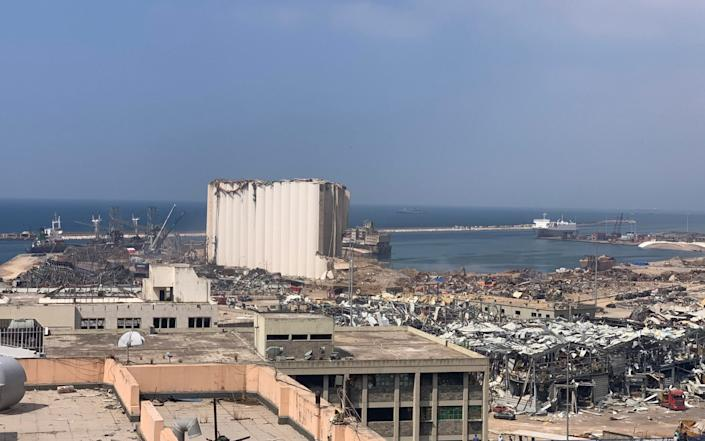 The view from Mr Karam's building which was located close to Beirut's port - Abbie Cheeseman