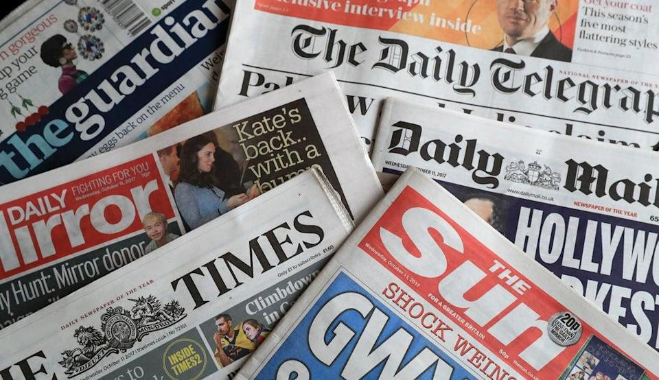 What the papers say – September 12 (PA) (PA Archive)
