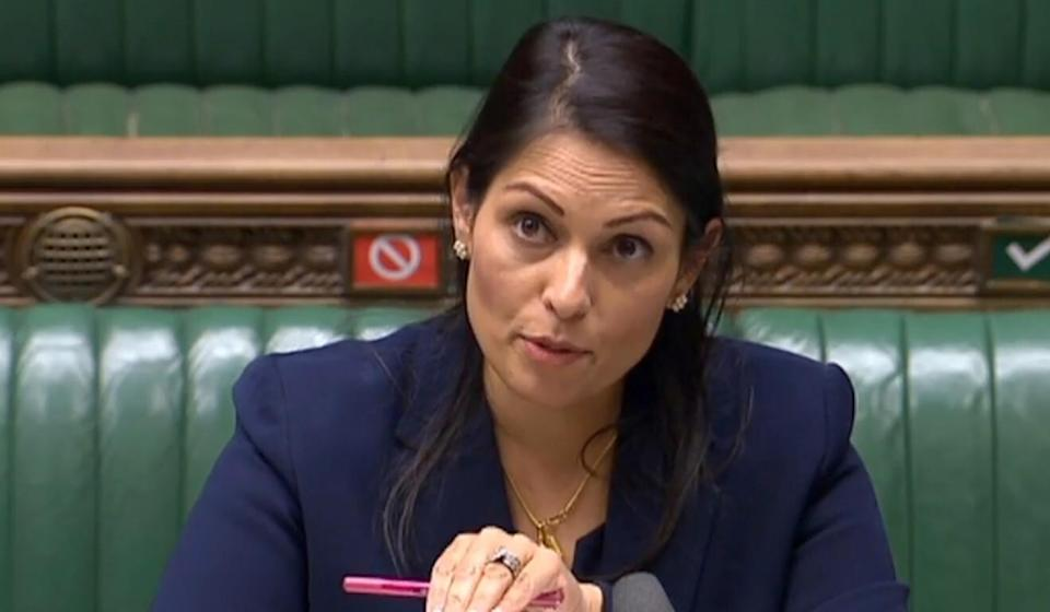 British Home Secretary Priti Patel said she looked forward to welcoming people wanting to put down roots and build a new life in Britain. Photo: AFP