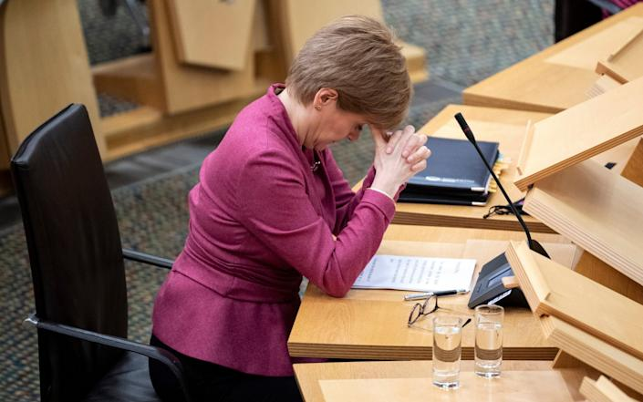 Nicola Sturgeon is her pressure over Test and Protect contact tracing system - Getty Images Europe