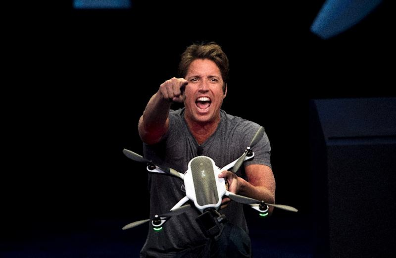 """CGoPro CEO Nick Woodman hails hailed the Karma drones as """"an end-to-end storytelling solution"""" (AFP Photo/Josh Edelson)"""