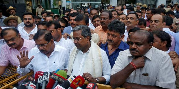 Yeddyurappa, Kumaraswamy stake claim to form Karnataka government