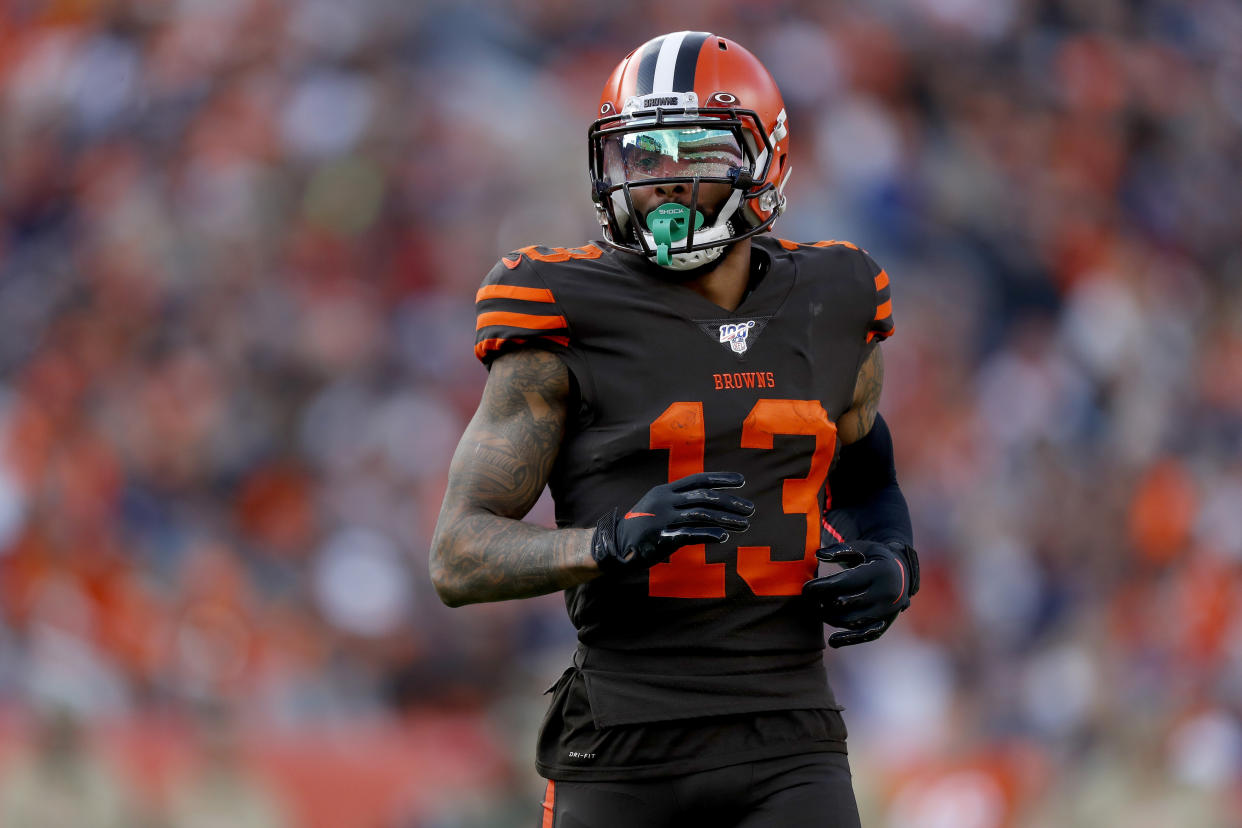 Odell Beckham Jr. has reportedly been telling opponents he wants out of Cleveland. (AP/David Zalubowski)