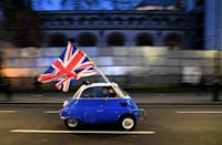 Britain left the EU's single market and customs union in January this year, nearly five years after a vote to take the country out of the bloc (AFP/DANIEL LEAL-OLIVAS)
