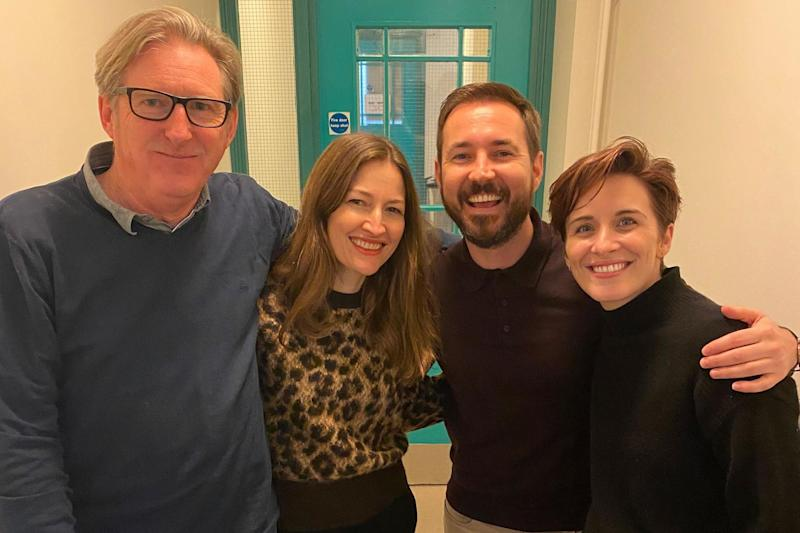 The cast united for a read-through last week (BBC)