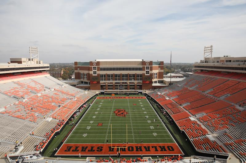 STILLWATER, OK - NOVEMBER 04: Boone Pickens Stadium pre Bedlam 2017 a college football game between the Oklahoma Sooners and the Oklahoma State Cowboys on November 4, 2017, at the Boone Pickens Stadium in Stillwater, OK. (Photo by David Stacy/Icon Sportswire via Getty Images)