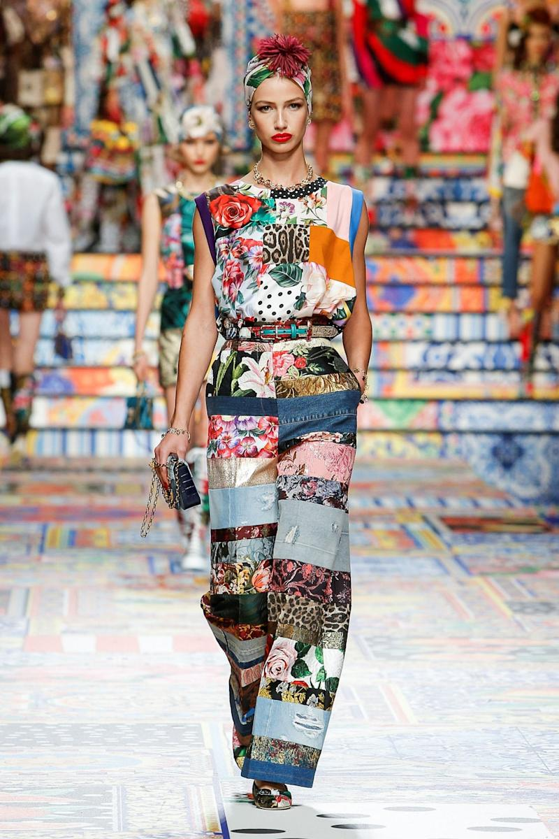 A look from Dolce & Gabbana's SS21 show (via REUTERS)