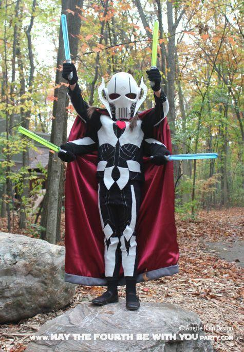 """<p>Four lightsabers is always better than one, as evidenced by this cyborg villain's DIY outfit. </p><p><strong>Get the tutorial at <a href=""""https://maythefourthbewithyoupartyblog.com/2015/10/07/have-a-heart-diy-general-grievous-costume/#more-405"""" rel=""""nofollow noopener"""" target=""""_blank"""" data-ylk=""""slk:May the Fourth Be With You"""" class=""""link rapid-noclick-resp"""">May the Fourth Be With You</a>.</strong></p><p><strong><a class=""""link rapid-noclick-resp"""" href=""""https://www.amazon.com/Daytona-Resistant-Ultra-Nubuck-Aquaclean-Upholstery/dp/B07G9QC245/?tag=syn-yahoo-20&ascsubtag=%5Bartid%7C10050.g.21287723%5Bsrc%7Cyahoo-us"""" rel=""""nofollow noopener"""" target=""""_blank"""" data-ylk=""""slk:SHOP GRAY FABRIC"""">SHOP GRAY FABRIC</a><br></strong></p>"""